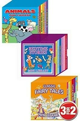 3 Mini Library Board Books. Special Pack for Toddlers, Children, Babies, Bedtime