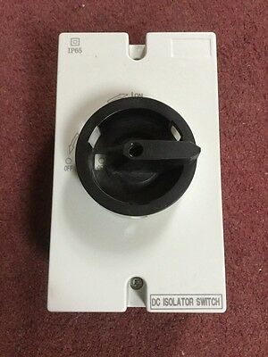 Rotary Isolator  16 Amp DC 4 Pole rotary isolator Ideal For Solar photovoltaic
