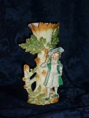 Antique Germany porcelain bisque statuette vase soliflore sujet biscuit