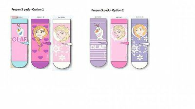 Children's Girls Disney Frozen Anna Elsa Olaf Socks 3 pack