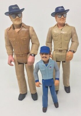 "VTG Tonka 5"" Chevron Figure 1980 Two Truck Driver & 2 Big Duke 1979 Lot"