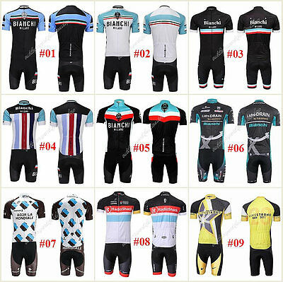 HOT New Style Sport Cycling Team Short Sleeve Jersey Bib Short Pant Bicycle Sets