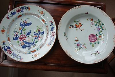 Chinese Famille Rose Dishes Qianlong Circa 1760