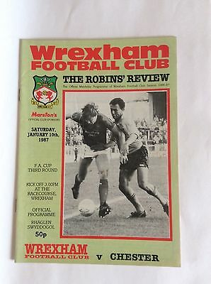 Wrexham v Chester F.A cup third round January 1987