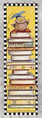 Mary Engelbreit - OWL on a Stack of Books - Bookmark