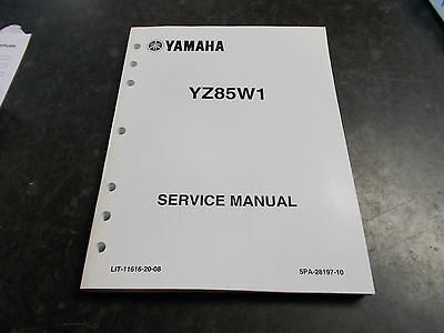 2006 yamaha yz85 w1 genuine workshop owners service manual 35 00 rh picclick co uk Yamaha YZ 2 Stroke Yamaha YZ 2 Stroke