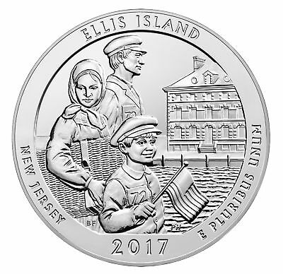 2017 - ATB 5oz Silver Ellis Island (Statue of Liberty National Monument)