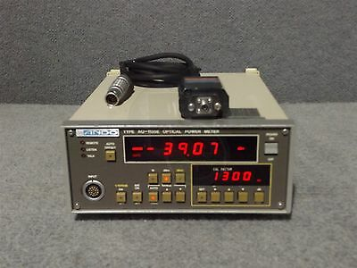 Ando Electric Co AQ-1135E 1300 nm Optical Power Meter & AQ-1973 Sensor