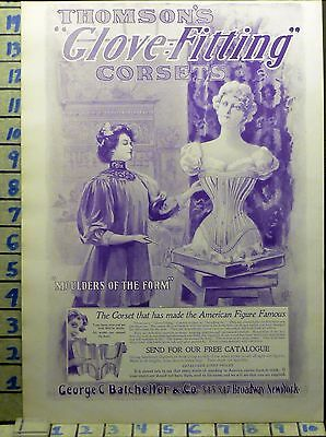 1900 Fashion Women Corset Thomson Style Design Beauty Dress Vintage Ad Bj46
