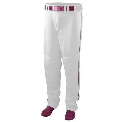 Augusta Sportswear BOYS SERIES BASEBALL PANTS WITH PIPING L White/Maroon