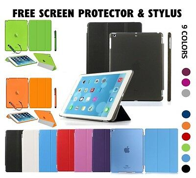 For New Apple iPad 9.7 2017 Smart Slim Magnetic Leather Stand Case Cover