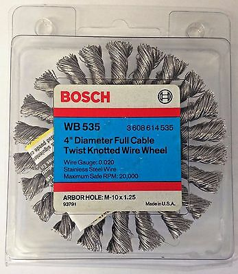 Milwaukee 1-1//8-Inch Knotted End Brush 48-52-1055 Stainless Steel Wire USA