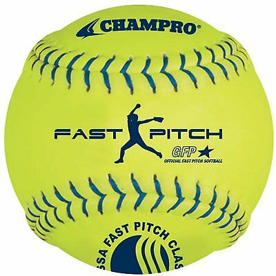 Champro Synthetic USSSA Fast Pitch Ball, Optic Yellow, 12-Inch Pack of 12
