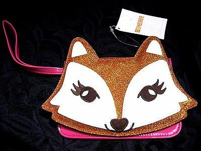 NWT Gymboree Glittery Fashionable Fox Patent Leather Wristlet