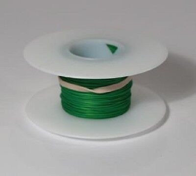 26 AWG Kynar Wire Wrap UL1422 Solid Wiremod type 100 foot spools GREEN NEW!