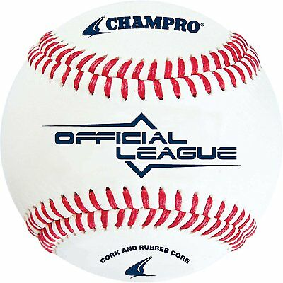 Champro Official League Cork Baseball White, 9-Inch Pack of 12