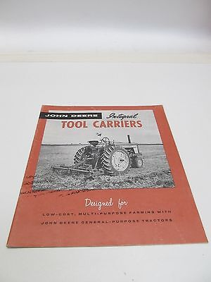 John Deere Integral Tool Carriers 1957 Brochure