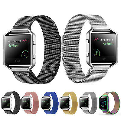 Milanese Loop Magnetic Stainless Steel Wrist Band Strap + Frame For Fitbit Blaze