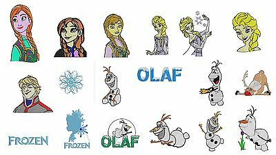 25 Frozen Embroidery Design, Disney Elsa Anna .hus .pes .vip INSTANT DOWNLOAD