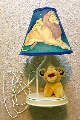 The Lion King Baby Nursery Table Lamp Plush Simba Stars Mufasa Vintage Decor