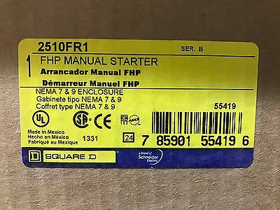 Square D 2510FR1 FHP Manual Starter ** New In Box, Free Shipping **