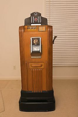 Jennings Chief Club Console Nickel Slot Machine--Rare and in Excellent Condition