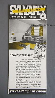Orig Vintage Sylvaply Attic Rooms How To Do It DIY Brochure Project #57