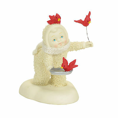 Dept 56 Snowbabies Classic Collection In Flight Meal w/ Cardinals 4058261 NEW