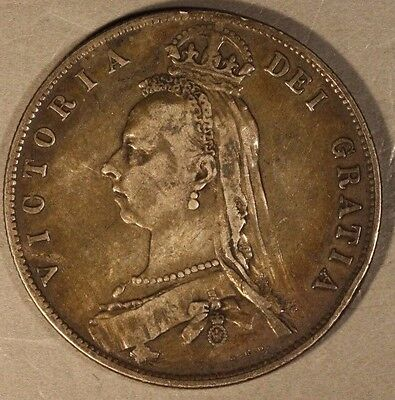 1891 Great Britain Florin Silver Higher Grade        ** Free U.S. Shipping **