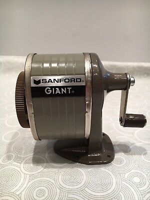 Viintage Sanford Pencil Sharpener Counter OR Wall Mount 6 hole sizes