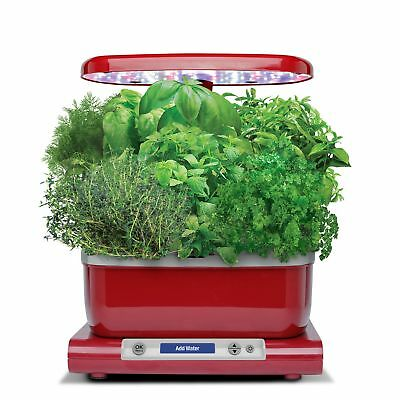 AeroGarden Harvest (LCD Control Panel) with Gourmet Herb Seed Pod Kit, Red, New