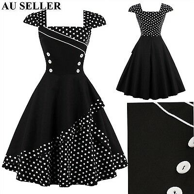 Women Vintage 50s 60s Retro Rockabilly Swing Pinup Evening Cocktail Party Dress