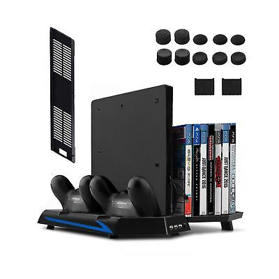[Newest Version] Keten Vertical Stand for PS4 Slim / PS4 with Cooling Fan 2 i...