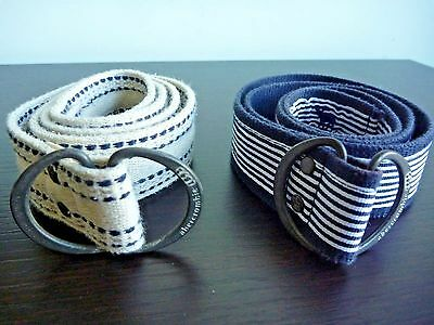 """ABERCROMBIE Girls Canvas Belts Size Small Lot of Two (2) 34"""""""