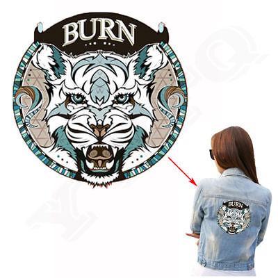 Heat Transfer Tiger Patch Iron On Patches For Clothes DIY Decoration Printing