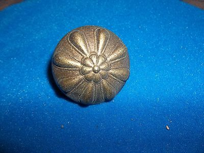 Nos Vintage Antique Brass Drawer Pull Knob  Bedroom Furniture Hardware Style 11