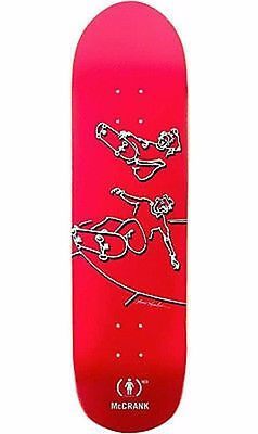"Girl McCrank x Lance Mountain Red Skateboard Deck 8.5"" RRP: 119.95"