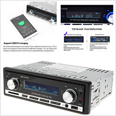 Car Radio Bluetooth V2.0 CD SD USB MP3 FM Autoradio Stereo Audio In FM Receiver
