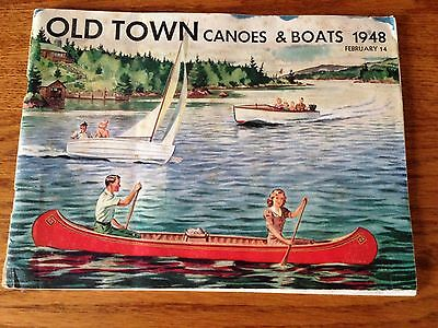 Vintage 1948 Old Town Canoes And Boats Catalog 42 Pages