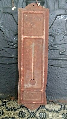 Vintage Antique Rusty Advertising Thermometer W.d. Fiser Co. Appliances Heating