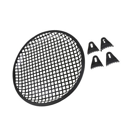 "10"" inch Metal Speaker Subwoofer Sub Waffle Mesh Grill Cover with Clips"