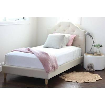 New Kids Childrens Upholstered King Single Linen Bed Bedroom Furniture