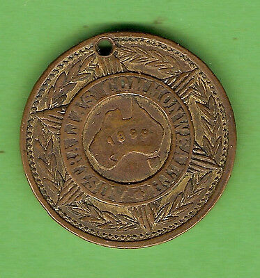 #d309. 1899 Promote Federation Of Australia  Medal