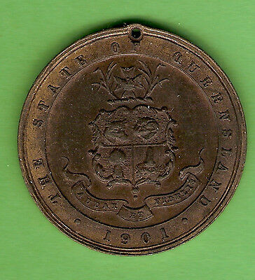 #d309.  1901 Coronation Medal - Queensland