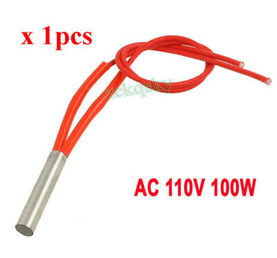 AC 110V 100W Single End Mould Cartridge Heater Tubing Heating Element 8mmx40mm