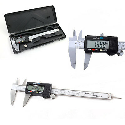 6-Inch/150mm Digital Electronic Gauge Stainless Steel Vernier Caliper Micrometer