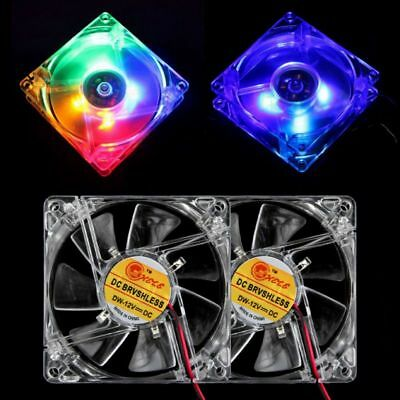 AU USB 4-LED 80mm Cooling Fan Pad Radiator Stand for Laptop Notebook PC Computer