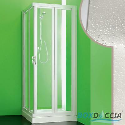 Shower Enclosure Cubicle Corner 2 Folding Doors In Pvc Acrylic