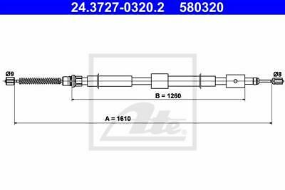 Rear Hand Brake Cable ATE 24.3727-0320.2 for Citroen