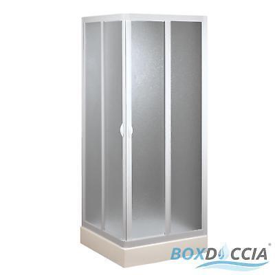 Shower Enclosure Acrylic Cubicle Corner 2 Central Sliding Doors In Pvc